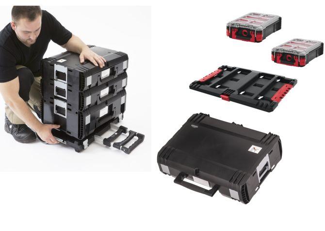 Sortimentskästen Packout Organizer trifft auf DynaCase und HD-Box