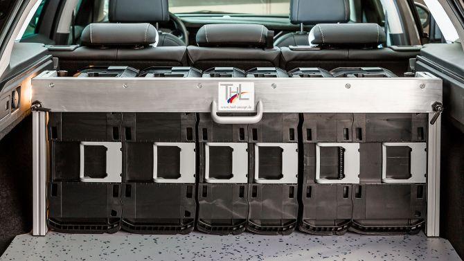 Ladungssicherunf DynaRack ideal für Kombis und Van's
