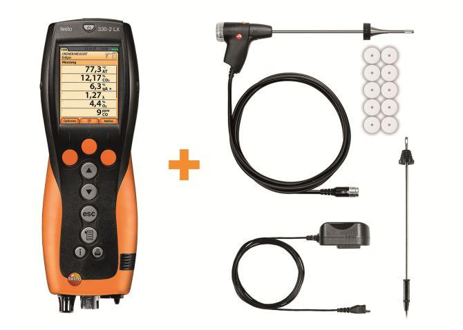 Abgasmessgerät Testo 330-2 LX im DynaCase inkl. Drucker SET